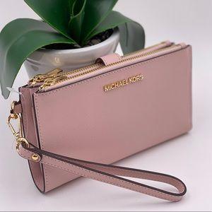 Michael Kors Wallet Wristlet DoubleZip Pink